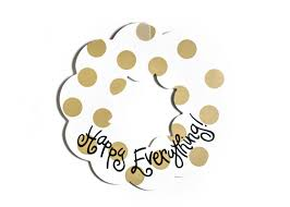 coton colors happy everything happy everything neitral dot wooden wreath coton colors