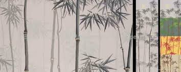 hand painted silk wallpaper bamboo wallpaper wall coverings ec