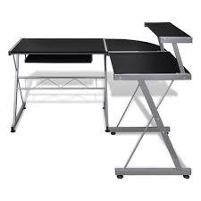 Kleiner Schreibtisch Schwarz Vidaxl Computertisch Schreibtisch Arbeitstisch Ecktisch Pc Tisch