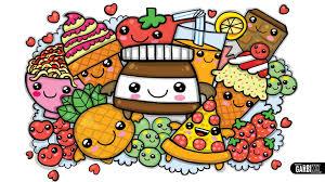 colouring a cute nutella and kawaii food cute graffiti by garbi