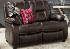 2 Seater Recliner Leather Sofa Kennedy 2 Seater Fixed Sofa U2013 Leather Look Fabric