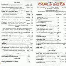 Toasters Menu Kevin U0027s Cafe U0026 Pizza Pizza 9609 Plank Rd Clinton La