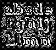 free chalkboard font alphabet sketchy hand drawn font shaded