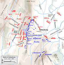 Gettysburg Map Common Sense Barrage Gettysburg The First Day