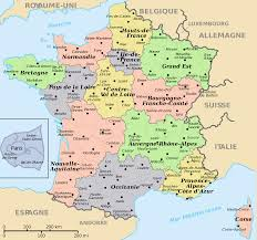 France Map Outline by