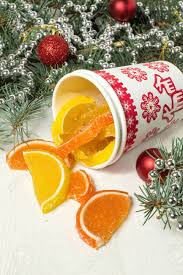 delicious marmalade orange and lemon slices and branches of