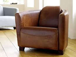 Small Leather Armchair The Chesterfield Company Hudson Leather Tub Chair