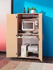Computer Desk Cabinets Hideaway Hideaway Computer Cabinet Ebay