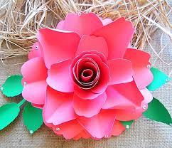 large paper flower scarlett rose style youtube