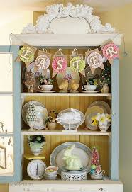 how to decorate your china cabinet easter decorating ideas china cabinet