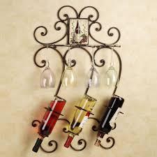 kitchen design ideas wall wrought iron wine racks home decor