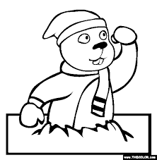 Free Online Coloring Pages Thecolor Groundhog Color Page