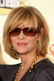 bob haircuts for sixty year olds kate capshaw short blonde messy haircut with bagns for women over