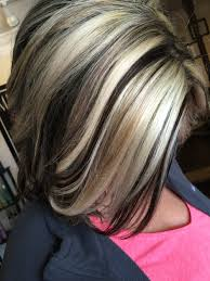 chocolate hair with platinum highlight pictures white and dark chocolate hair color cosmetology 3 pinterest