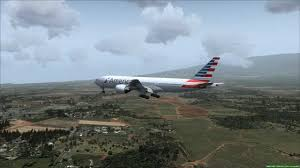 landing at maui boeing 777 200er american airlines youtube