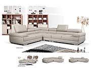 Gray Leather Sectional Sofa by Leather Sectional Sofas