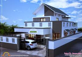 modern style house exterior in 1693 sq ft kerala home design and