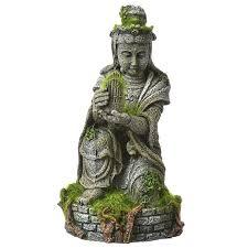 blue ribbon pet products environments ancient buddha statue