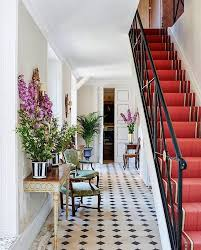gorgeous traditional entryway style with black and white
