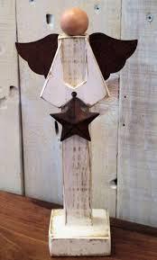 primitive wooden angel figure primitives angel and etsy