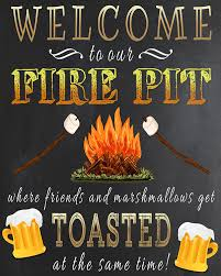 Firepit Signs Free Printable Welcome To Our Csite Sign Plus 4 More Outdoorsy