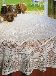 sale crochet tablecloth bridal shower gift white