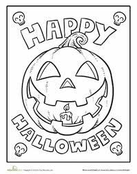 creepy coloring pages color the happy halloween happy halloween worksheets and
