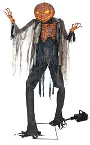 scorched scarecrow with fog machine halloween decoration prop foot