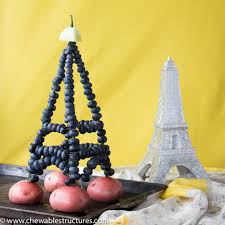 Eiffel Tower Ornaments How To Make Eiffel Tower Using Fresh Blueberries
