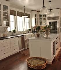 modern farmhouse kitchen design grey metal double bowl sink brown
