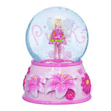 pink poppy musical snow globe flower smartypants