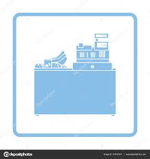 telecharger icone bureau icône de bureau comptoir supermarché store image vectorielle
