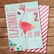 flamingo party invitation summer party invitation luau party