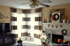 Blue And White Striped Drapes Horizontal Striped Curtains Diy Horizontal Striped Curtains For