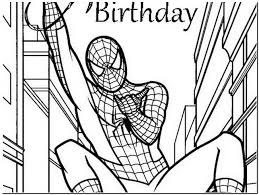 spiderman birthday coloring page spiderman birthday coloring pages spiderman happy birthday card