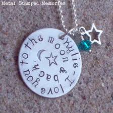 Childrens Necklaces Handstamped Silver Childrens Kids Necklace Personalized