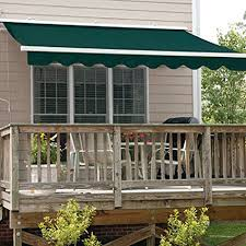 Patio Awning Reviews Amazon Com Aleko 12x10 Feet Retractable Patio Awning Green 3 5