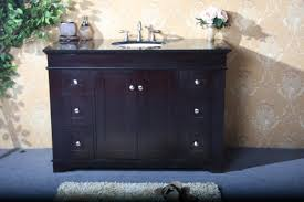 single 49 inch espresso transitional bathroom vanity