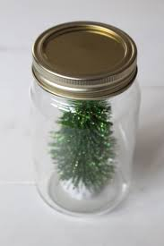 dollar store christmas tree kit in a mason jar yesterday on tuesday
