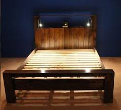 bed frame with lights make your own white bed frame from wooden pallets with lighting