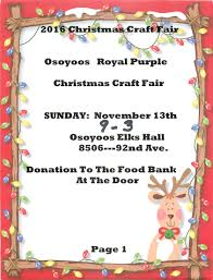 2016 osoyoos royal purple christmas craft fair osoyoos