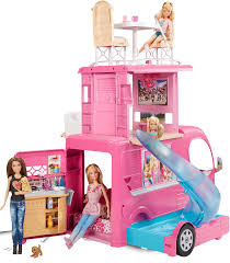 Barbie Glam Bathroom by Mattel Barbie Pop Up Camper Cjt42 Ebay