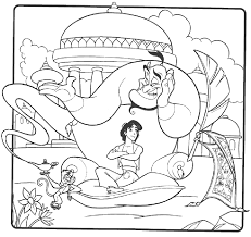 aladdin relax with jin aladdin coloring pages pinterest
