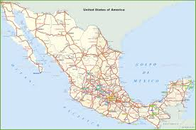 Guadalajara Mexico Map by Mexico Road And Highways Map