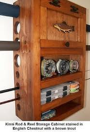 Fishing Rod Storage Cabinet Fly Rod Reel Storage Cabinet Smallmouth Musky Warm Water Fish