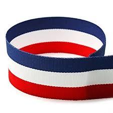 striped grosgrain ribbon 7 8 white blue striped grosgrain ribbon 100