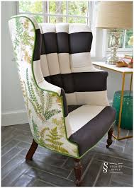 How To Make A Wing Chair Slipcover Best 25 Striped Chair Ideas On Pinterest French Country Chairs