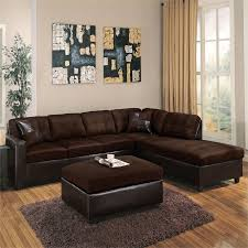 chocolate sectional sofa acme reversible sectional sofa in chocolate easy rider