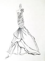 artist original fashion illustration sketch pencil drawing wedding