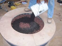 Propane Fire Pits With Glass Rocks by Aquatic Glassel Aquaticglassel Com Fireplace And Fire Pit